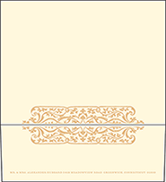 Elegant Monogram Letterpress Envelope Design Small