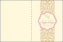 Elegant Monogram Letterpress Program Design Small