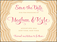 Elegant Monogram Letterpress Save The Date Design Small