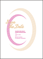 Ellisse Letterpress Save The Date Design Small