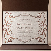 Emile Letterpress Invitation Design Small
