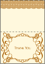 Emile Letterpress Thank You Card Fold Design Small