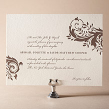 Empire Letterpress Invitation Design Small