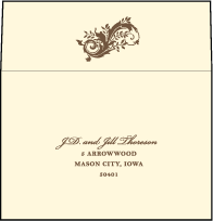 Empire Letterpress Reply Envelope Design Small