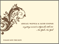 Empire Letterpress Save The Date Design Small