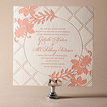 Enya Letterpress Invitation Design Small