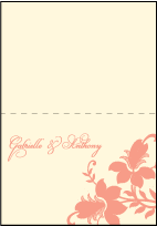 Enya Letterpress Thank You Card Fold Design Small
