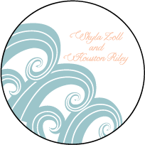 Erte Beach Letterpress Coaster Design Small