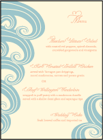Erte Beach Letterpress Menu Design Small