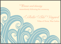 Erte Beach Letterpress Reception Design Small