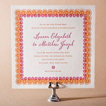 Esperanza Letterpress Invitation Design Small