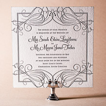 Evelyn Letterpress Invitation Design Small