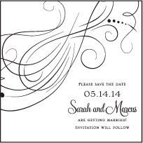 Evelyn Letterpress Save The Date Design Small