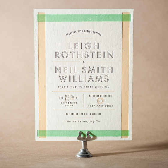 Farmstand Letterpress Invitation Design Small
