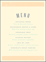 Farmstand Letterpress Menu Design Small