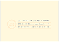 Farmstand Letterpress Reply Envelope Design Small