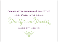 Filigree Letterpress Reception Design Small