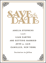 Fitzgerald Letterpress Save The Date Design Small