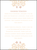 Fleur Letterpress Direction Design Small