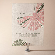 Flit Letterpress Invitation Design Small