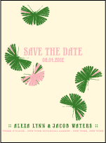 Flit Letterpress Save The Date Design Small