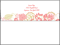 Floral Wreath Letterpress Envelope Design Small