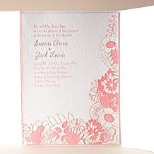 Floral Wreath Letterpress Invitation Design Small