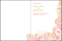 Floral Wreath Letterpress Program Design Small