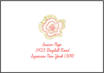 Floral Wreath Letterpress Reply Envelope Design Small