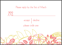 Floral Wreath Letterpress Reply Design Small