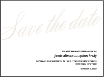 Florian Script Letterpress Save The Date Design Small