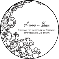 Flourish Letterpress Coaster Design Small