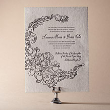Flourish Letterpress Invitation Design Small