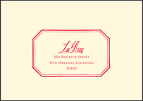 French Quarter Letterpress Reply Envelope Design Small