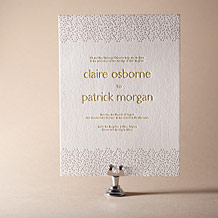 Fresh Letterpress Invitation Design Small