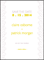 Fresh Letterpress Save The Date Design Small