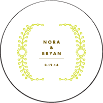 Garden Vine Letterpress Coaster Design Small