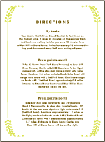 Garden Vine Letterpress Direction Design Small