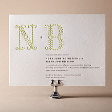 Garden Vine Letterpress Invitation Design Small