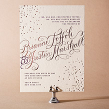 Gilded Romance Letterpress Invitation Design Small