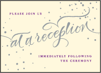 Gilded Romance Letterpress Reception Design Small