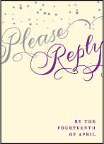 Gilded Romance Letterpress Reply Design Small