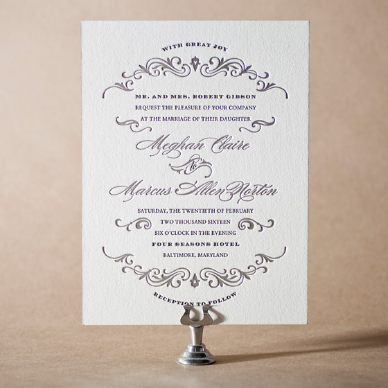 Gilford Letterpress Invitation Design Small