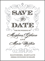 Gilford Letterpress Save The Date Design Small