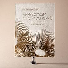 Glamorous Blooms Letterpress Invitation Design Small