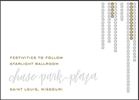 Glitterati Letterpress Reception Design Small
