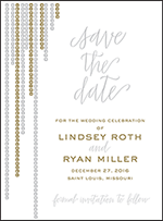 Glitterati Letterpress Save The Date Design Small