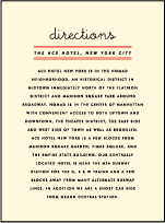 Gotham Letterpress Direction Design Small