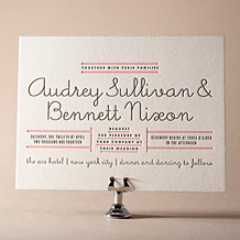 Gotham Letterpress Invitation Design Small