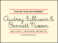 Gotham Letterpress Save The Date Design Small